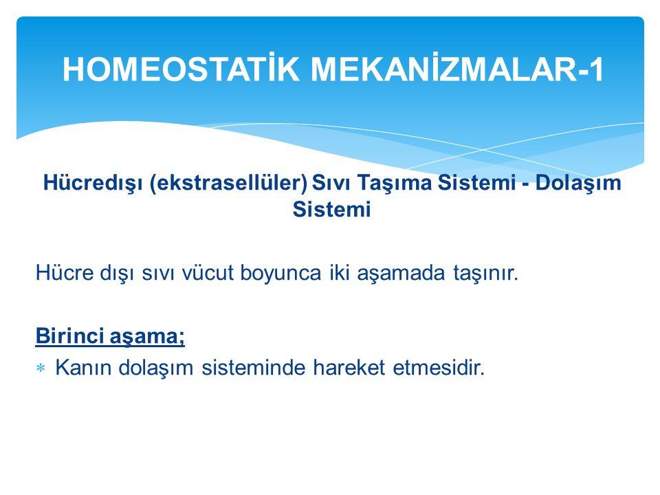 HOMEOSTATİK MEKANİZMALAR-1