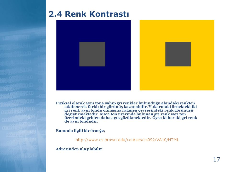 2.4 Renk Kontrastı