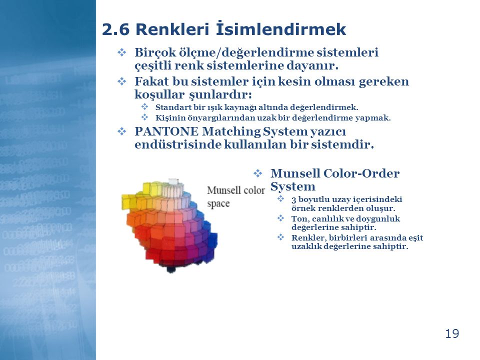 2.6 Renkleri İsimlendirmek