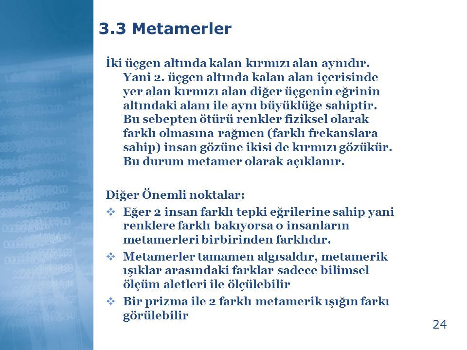 3.3 Metamerler