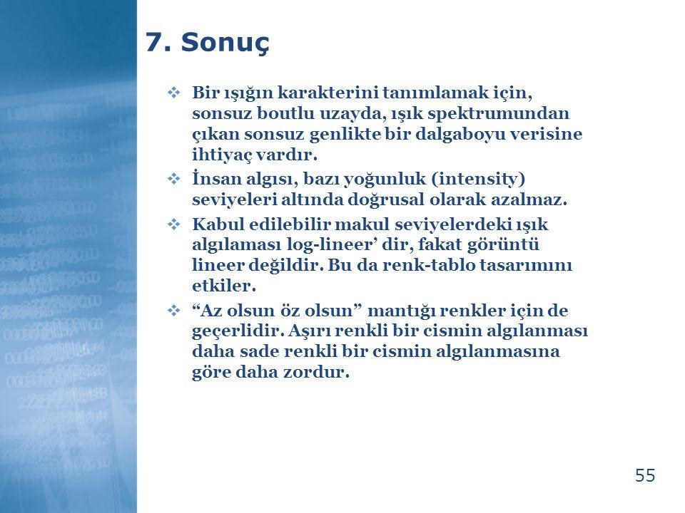 7. Sonuç