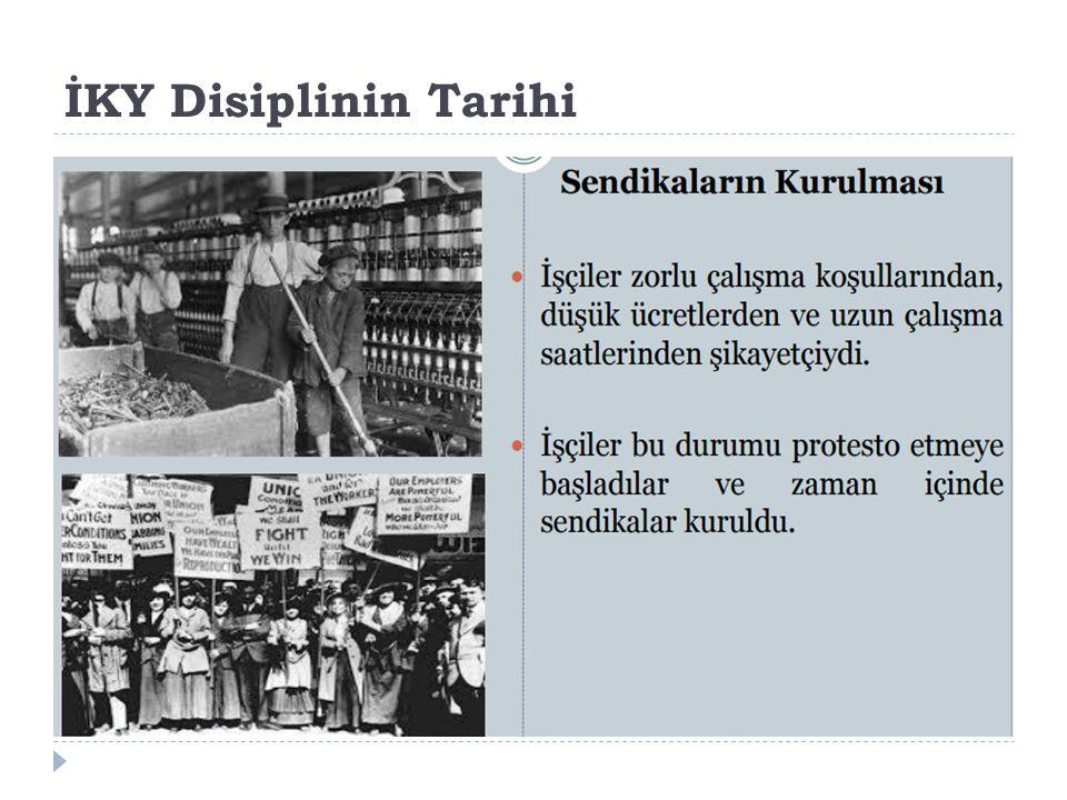 İKY Disiplinin Tarihi