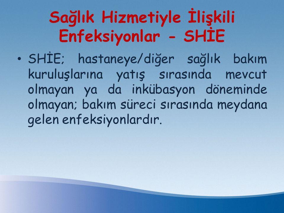 Sağlık Hizmetiyle İlişkili Enfeksiyonlar - SHİE