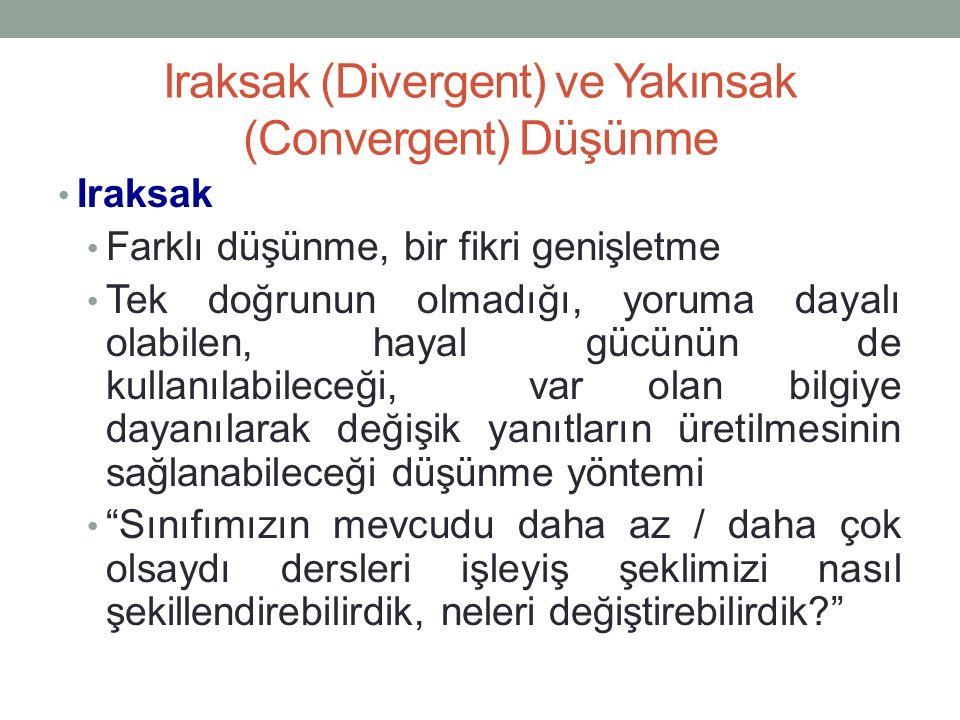Iraksak (Divergent) ve Yakınsak (Convergent) Düşünme