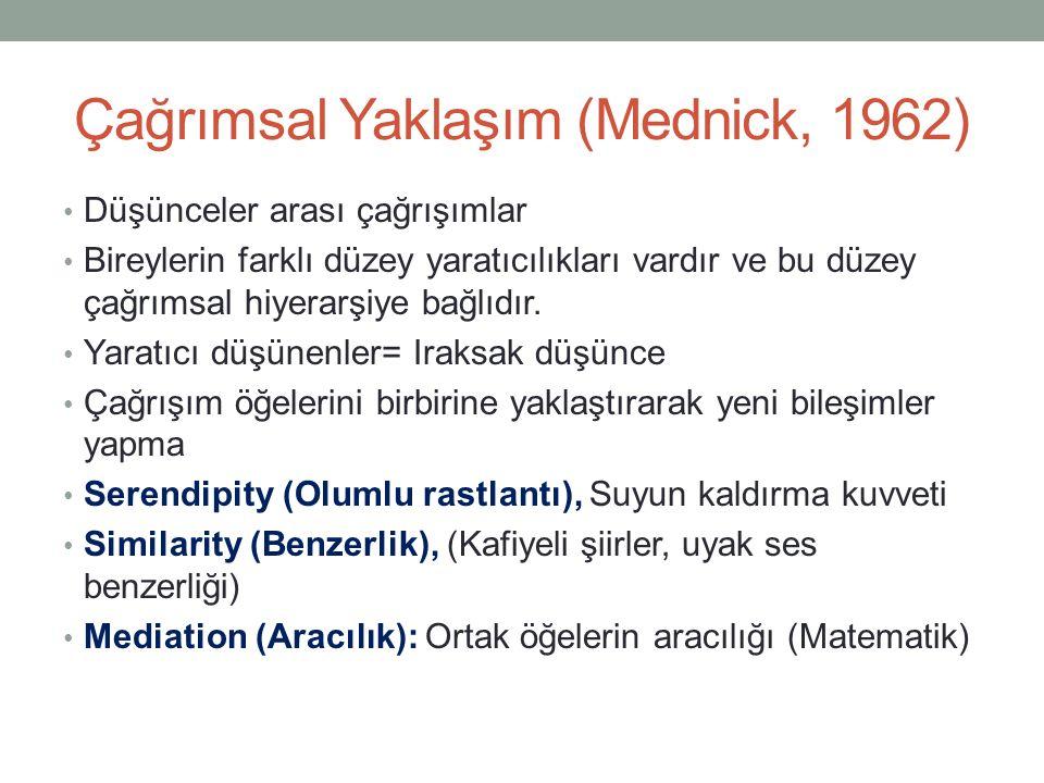 Çağrımsal Yaklaşım (Mednick, 1962)