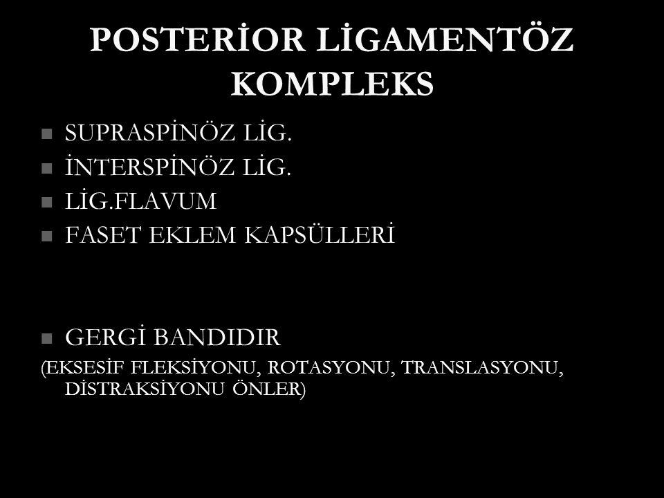 POSTERİOR LİGAMENTÖZ KOMPLEKS