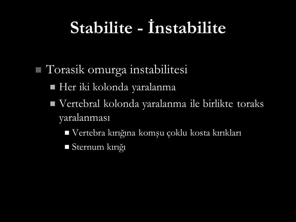 Stabilite - İnstabilite