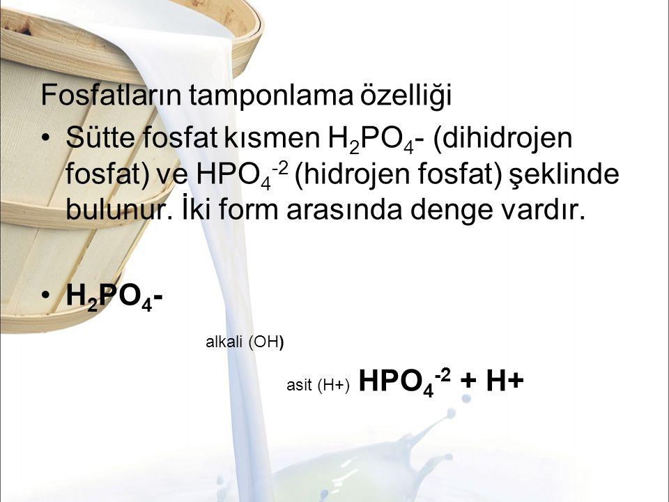 Fosfatların tamponlama özelliği