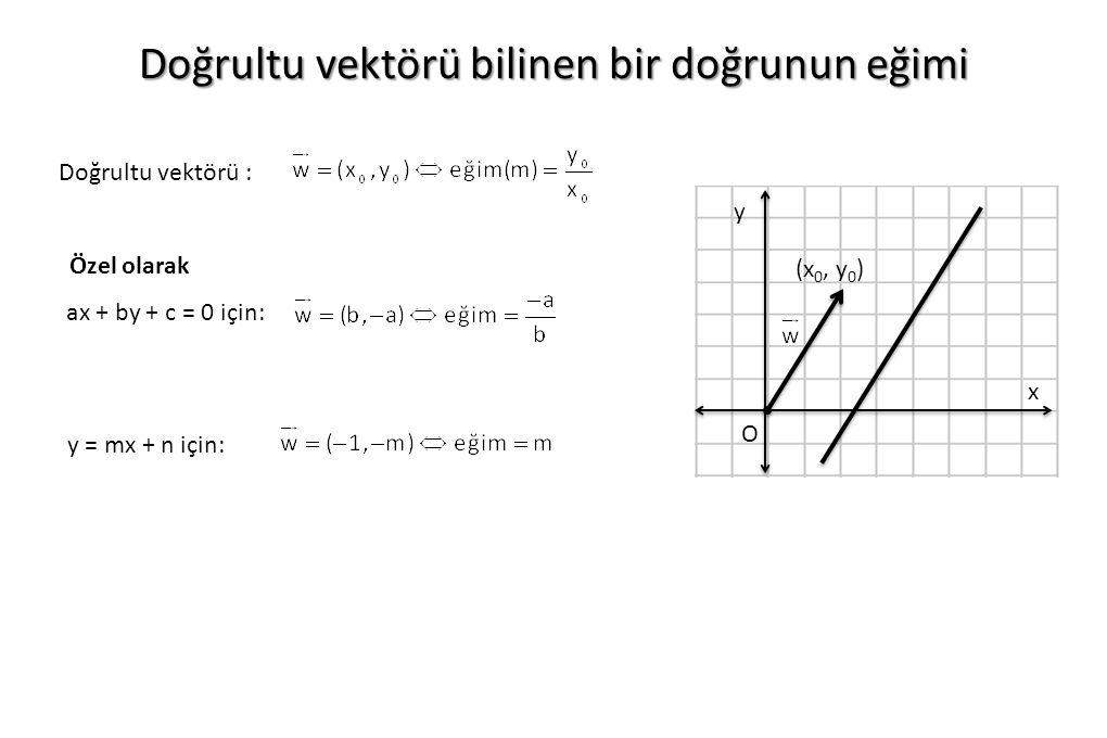 Doğrultu vektörü bilinen bir doğrunun eğimi