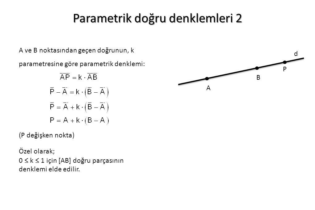 Parametrik doğru denklemleri 2