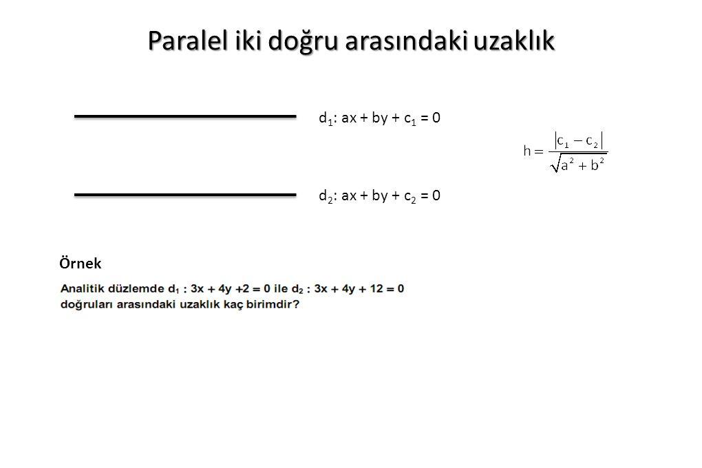 Paralel iki doğru arasındaki uzaklık