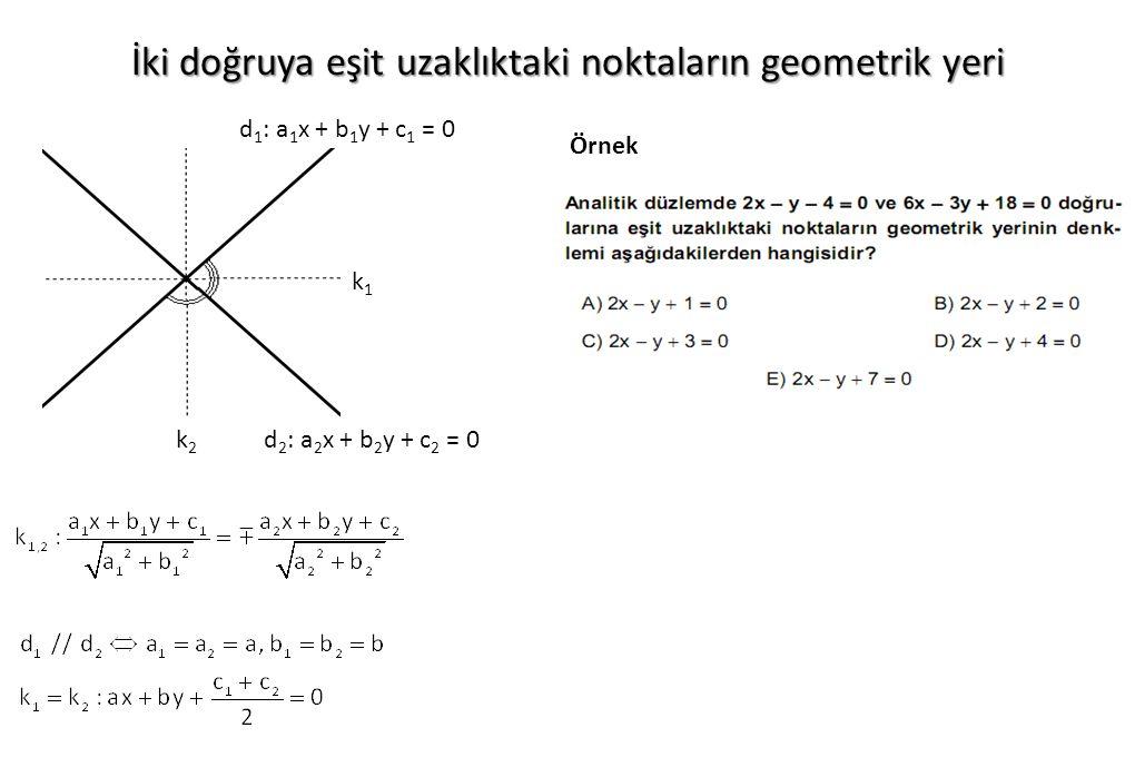 İki doğruya eşit uzaklıktaki noktaların geometrik yeri