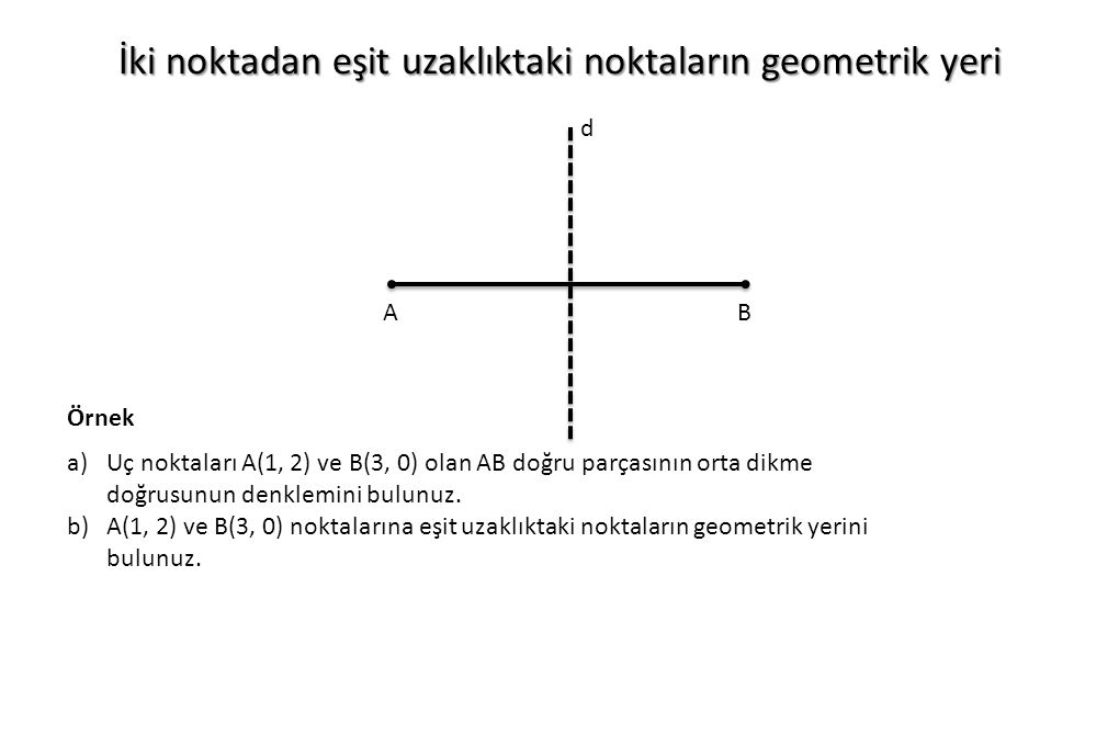 İki noktadan eşit uzaklıktaki noktaların geometrik yeri