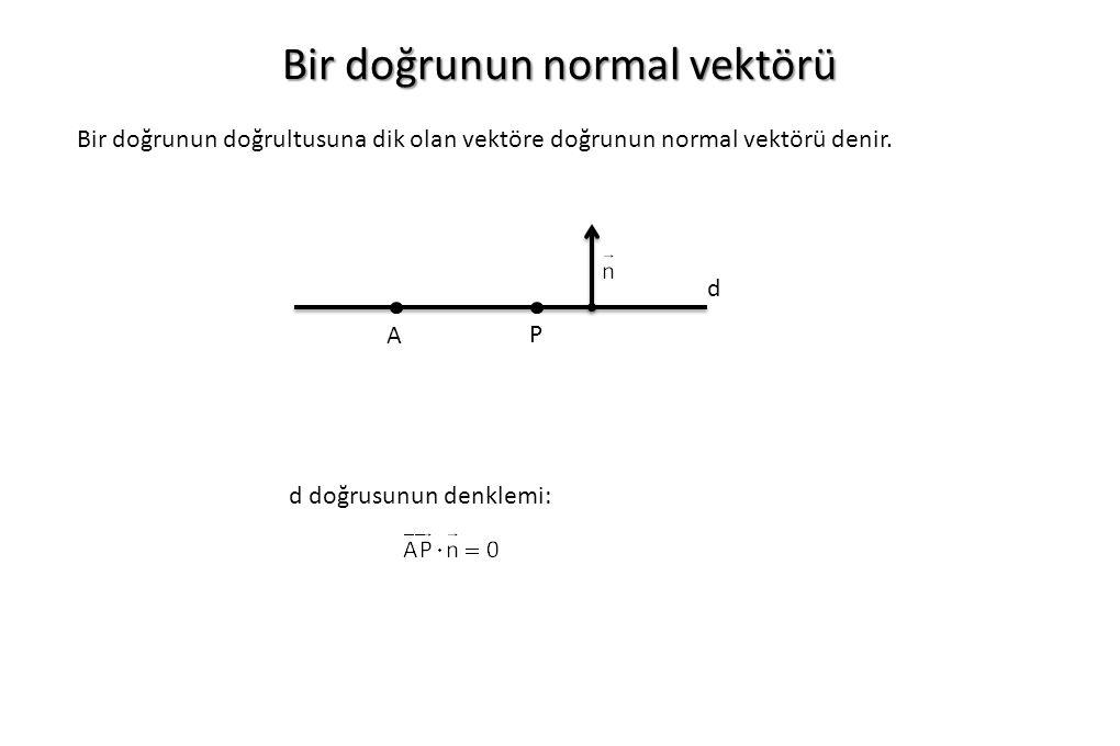 Bir doğrunun normal vektörü