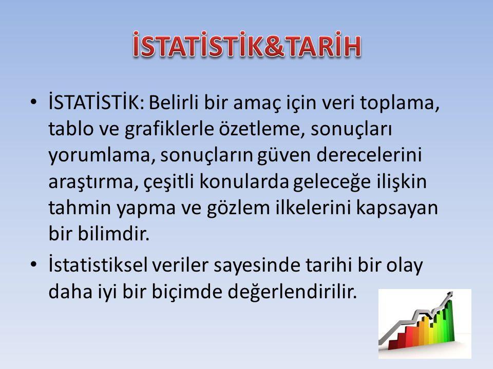 İSTATİSTİK&TARİH