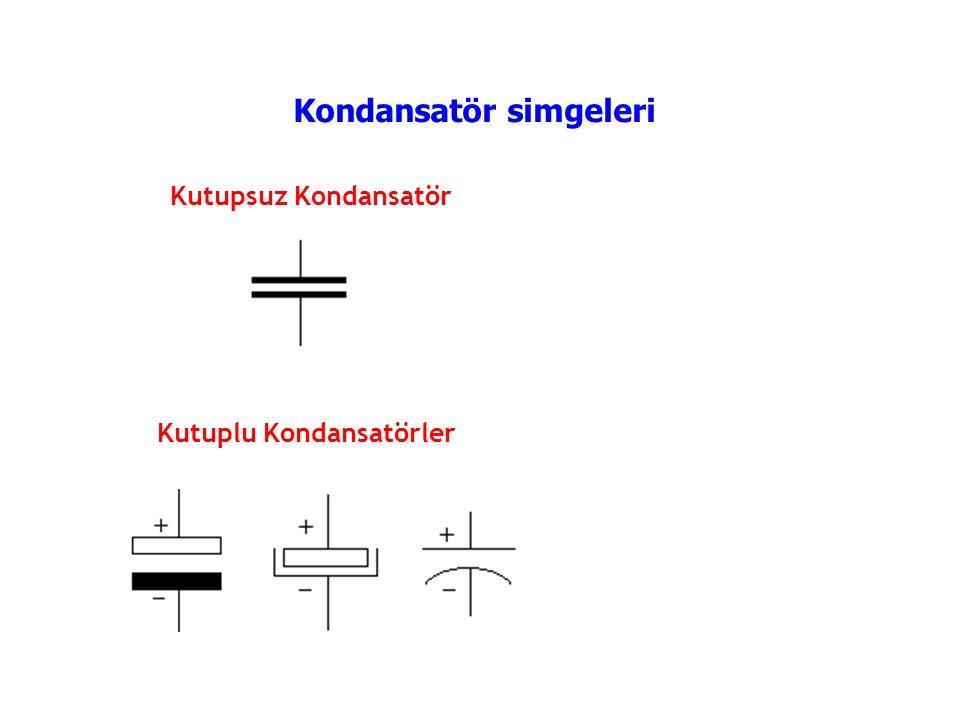 Kondansatör simgeleri
