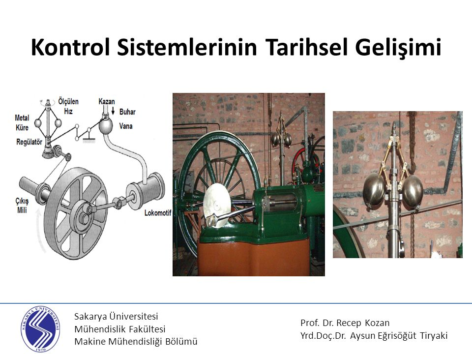 Kontrol Sistemlerinin Tarihsel Gelişimi