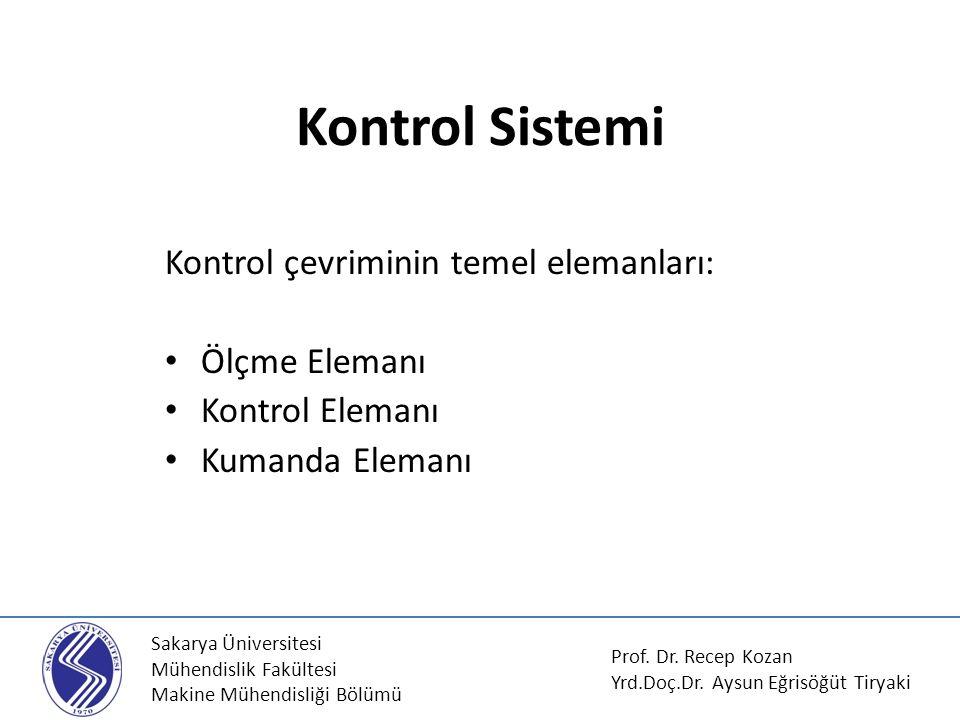 Kontrol Sistemi Kontrol çevriminin temel elemanları: Ölçme Elemanı