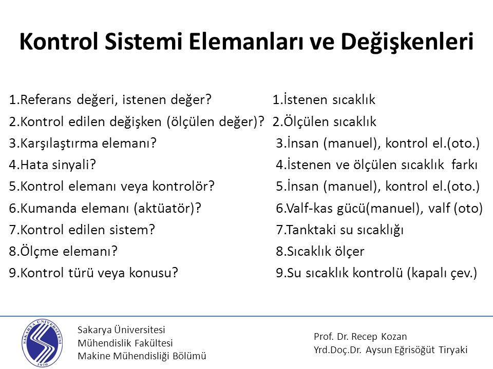 Kontrol Sistemi Elemanları ve Değişkenleri
