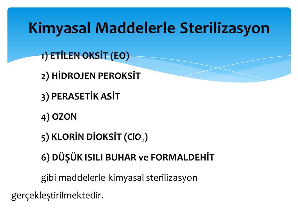 Kimyasal Maddelerle Sterilizasyon