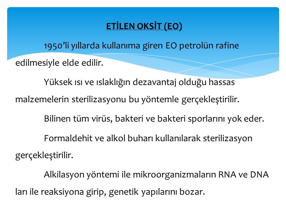 ETİLEN OKSİT (EO) 1950'li yıllarda kullanıma giren EO petrolün rafine edilmesiyle elde edilir.