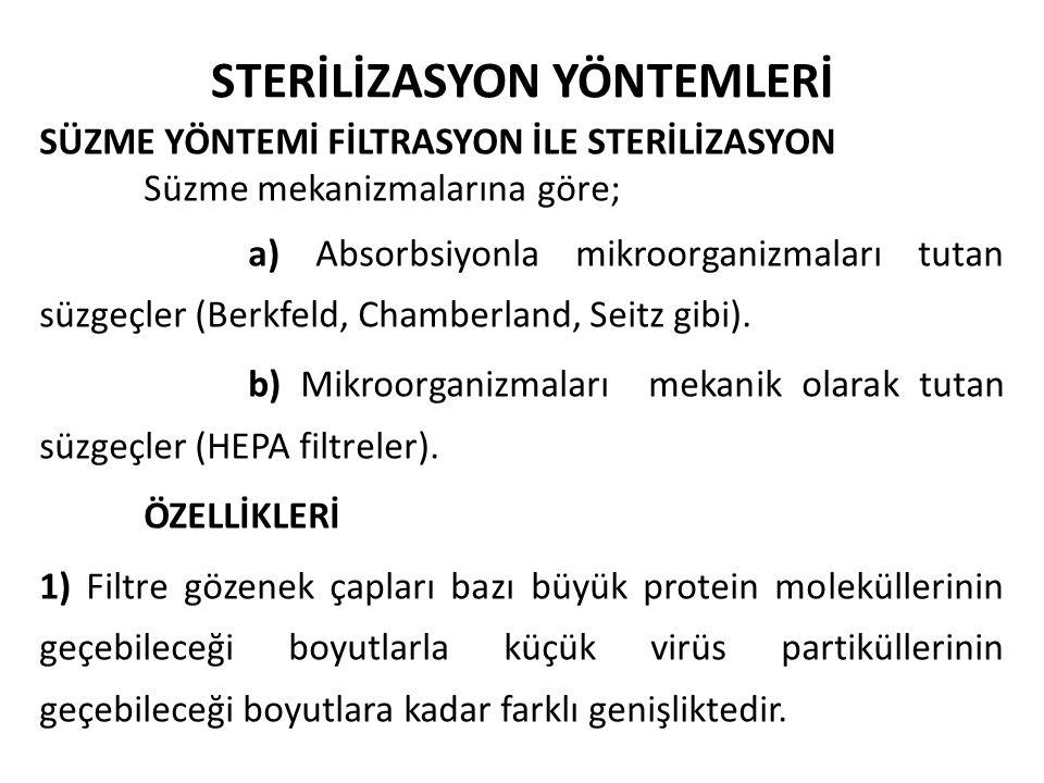 STERİLİZASYON YÖNTEMLERİ