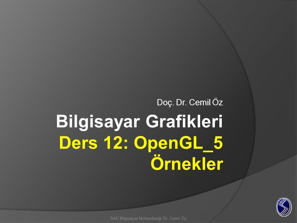 Bilgisayar Grafikleri Ders 12: OpenGL_5 Örnekler