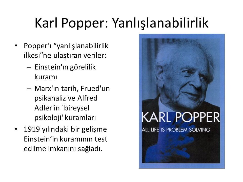Karl Popper: Yanlışlanabilirlik