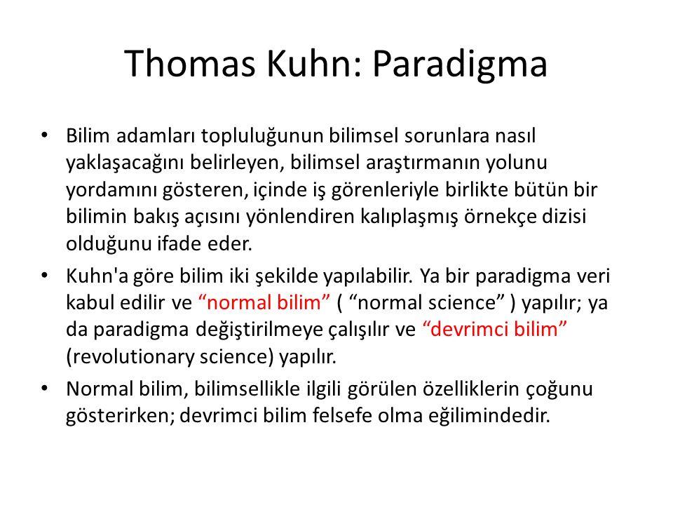 Thomas Kuhn: Paradigma