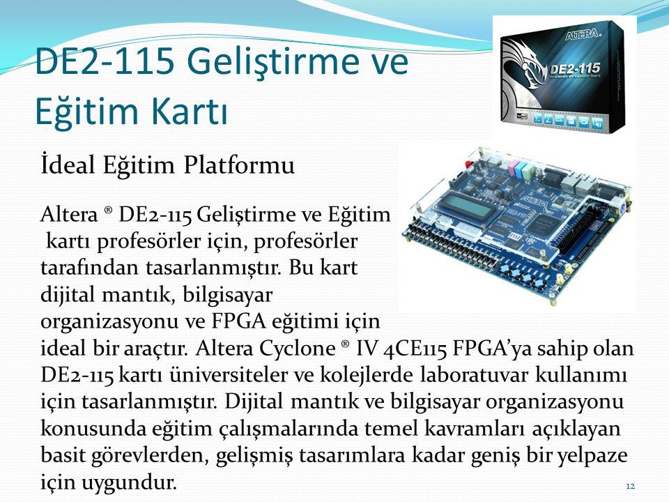 DE2-115 Geliştirme ve Eğitim Kartı