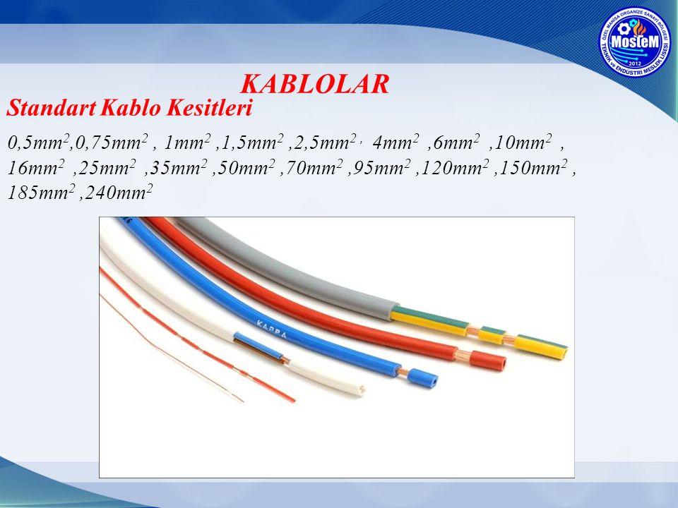 KABLOLAR Standart Kablo Kesitleri