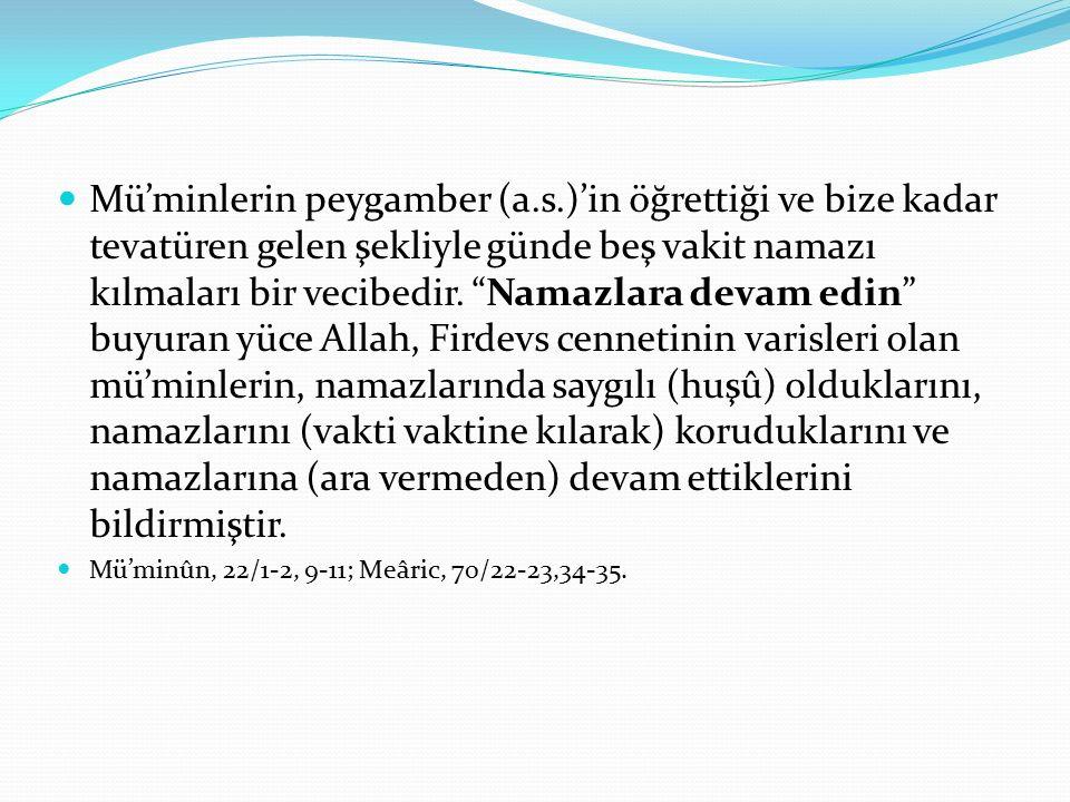 Mü'minlerin peygamber (a. s