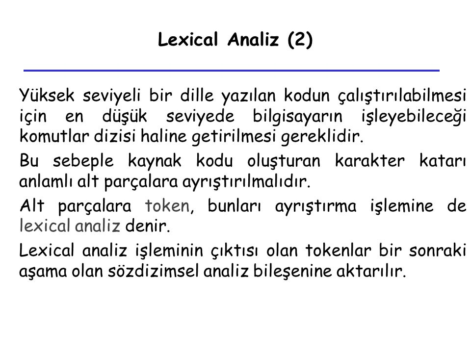 Lexical Analiz (2)