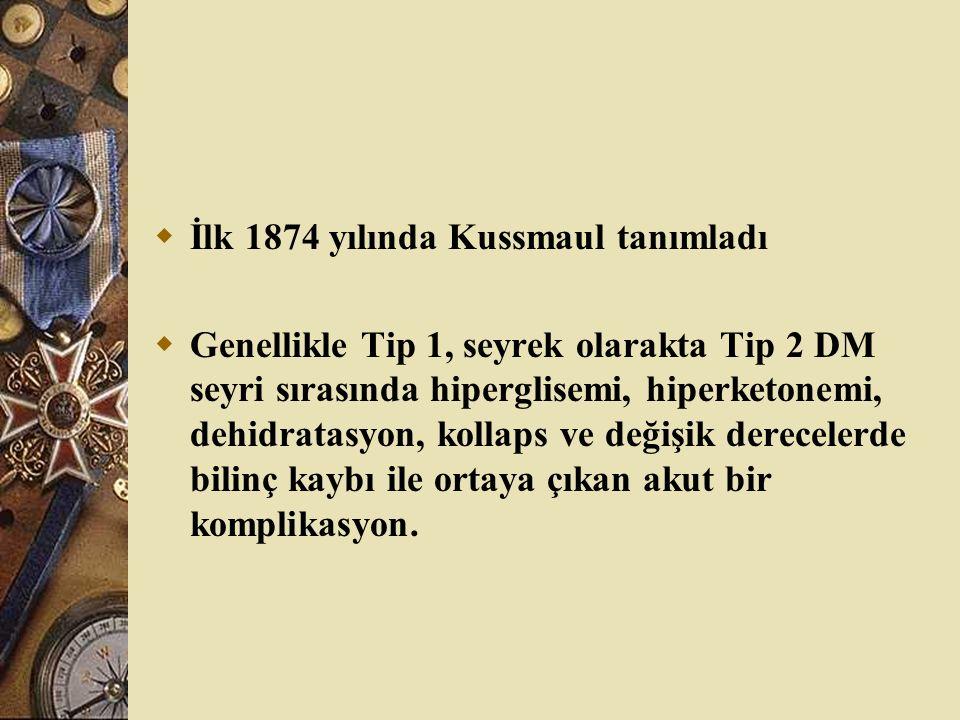 İlk 1874 yılında Kussmaul tanımladı