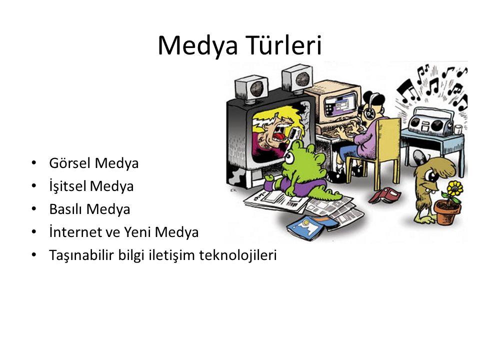 Medya Türleri Görsel Medya İşitsel Medya Basılı Medya