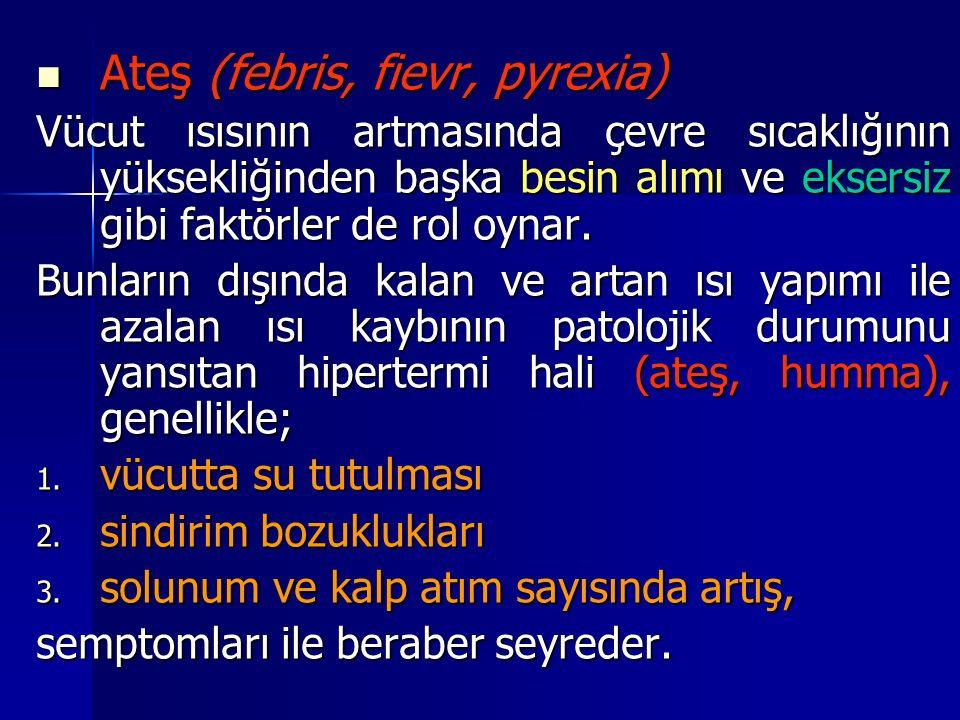 Ateş (febris, fievr, pyrexia)