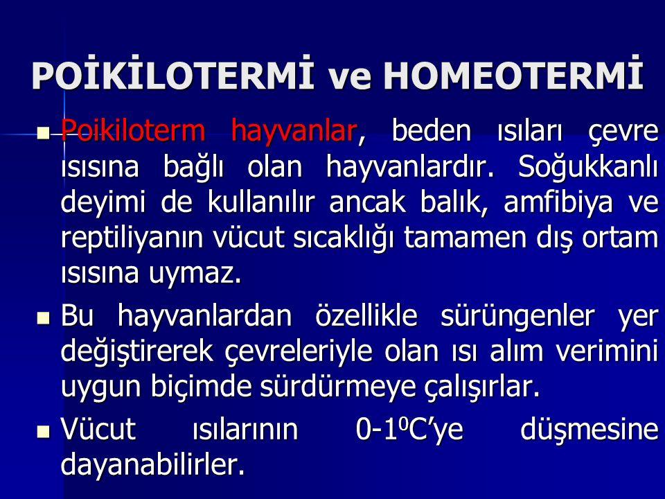 POİKİLOTERMİ ve HOMEOTERMİ