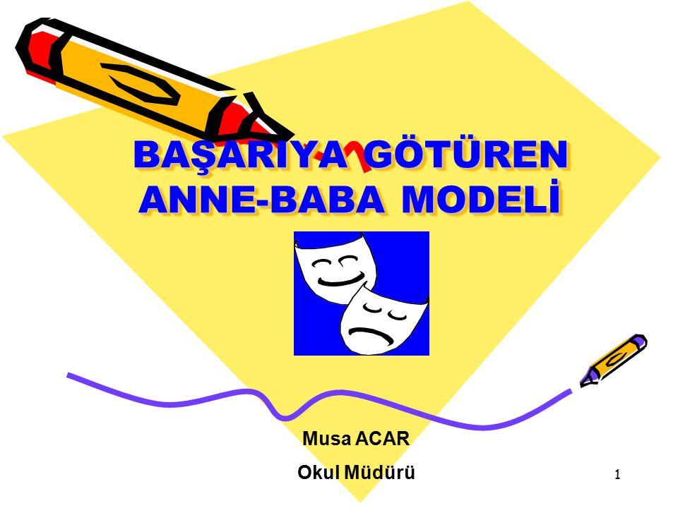 BAŞARIYA GÖTÜREN ANNE-BABA MODELİ