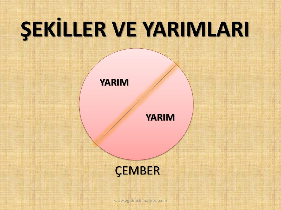 ŞEKİLLER VE YARIMLARI YARIM YARIM ÇEMBER www.egitimcininadresi.com