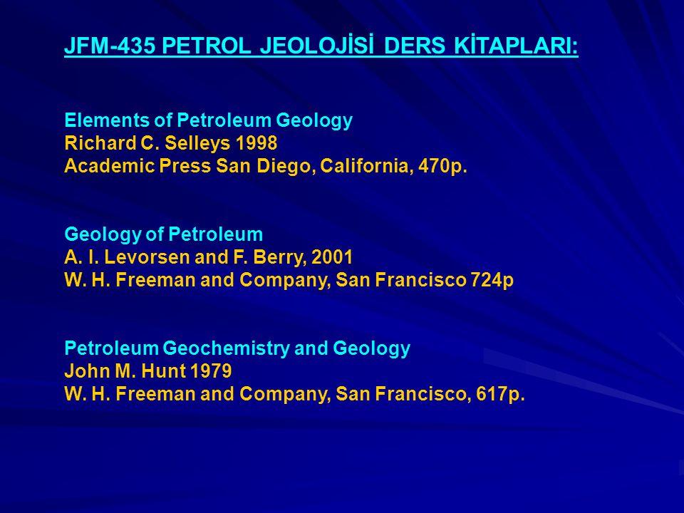 JFM-435 PETROL JEOLOJİSİ DERS KİTAPLARI: