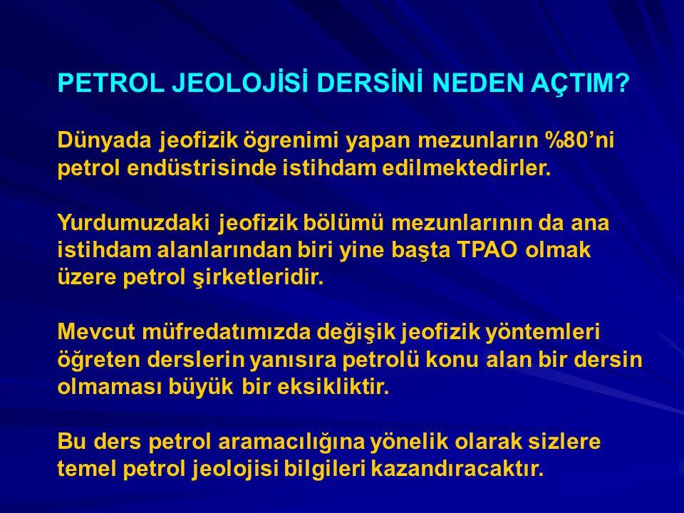 PETROL JEOLOJİSİ DERSİNİ NEDEN AÇTIM