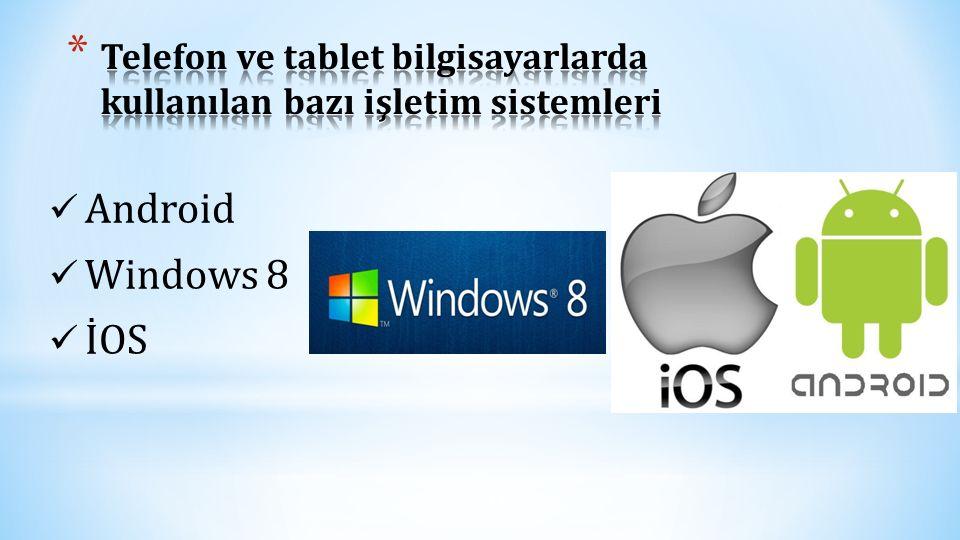 Telefon ve tablet bilgisayarlarda kullanılan bazı işletim sistemleri