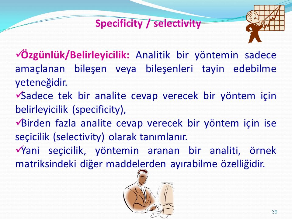Specificity / selectivity