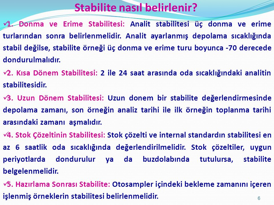 Stabilite nasıl belirlenir
