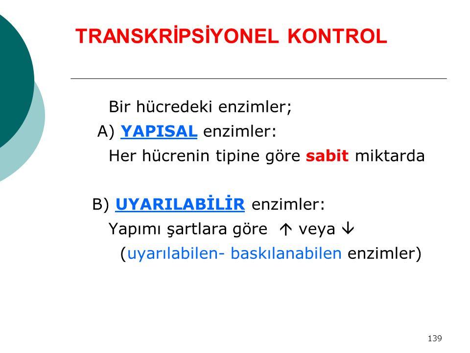TRANSKRİPSİYONEL KONTROL