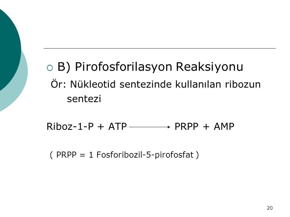 B) Pirofosforilasyon Reaksiyonu