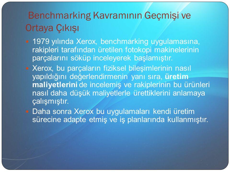 Benchmarking Kavramının Geçmişi ve Ortaya Çıkışı