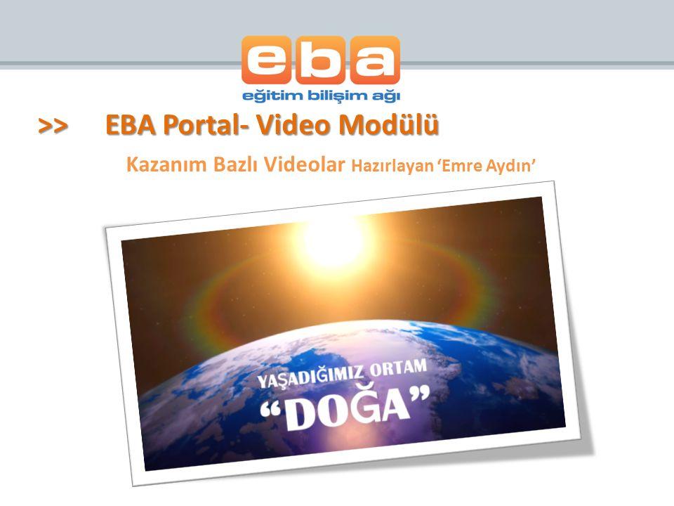 Kazanım Bazlı Videolar Hazırlayan 'Emre Aydın'
