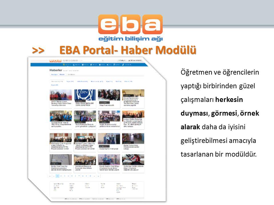 >> EBA Portal- Haber Modülü