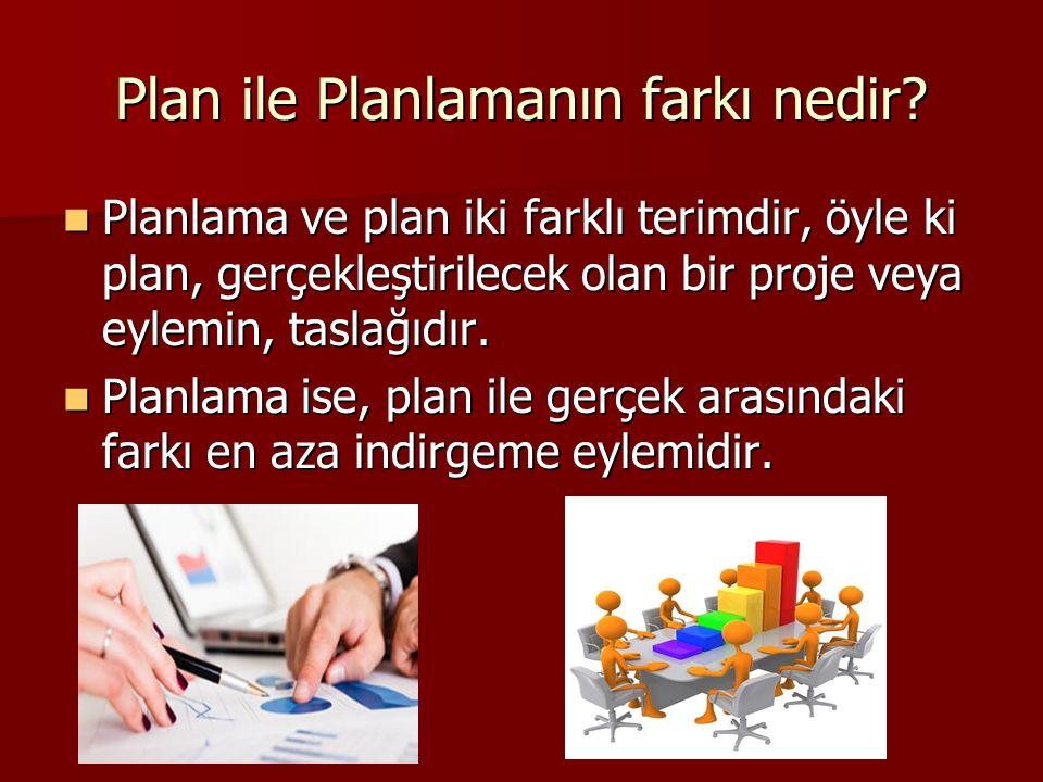 Plan ile Planlamanın farkı nedir